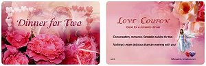 Plastic card - love coupon
