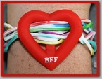 BFF Heart Charm and Bands