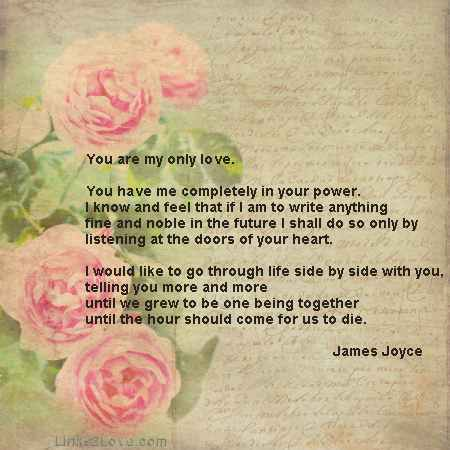 Classic Love Letters, James Joyce, Romantic Love Letters
