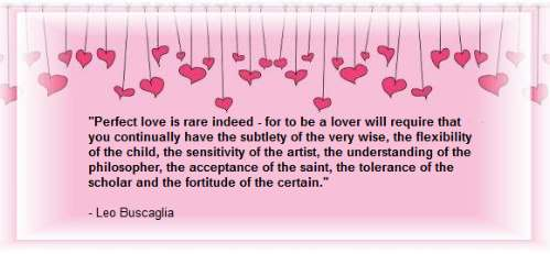 Perfect love is rare indeed