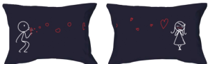 Navy  Couples Pillowcases