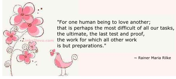 Ultimate task to love someone...