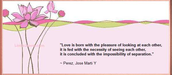 Love quote - impossibility of separation