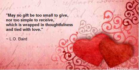 No gift to small when tied with love