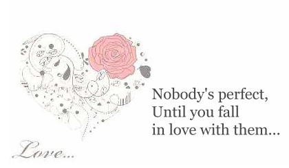 Nobody's perfect, until you fall in love with them