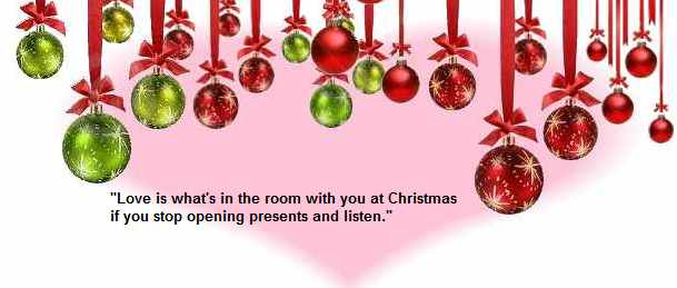 Love is what's in the room with you at Christmas if you stop opening presents and listen