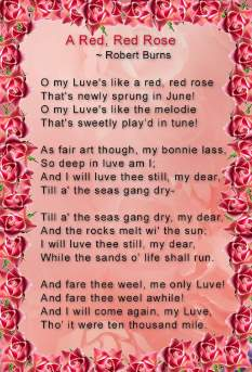O, My Luve's Like a Red, Red Rose