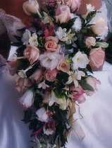 Wedding flowers pink & white