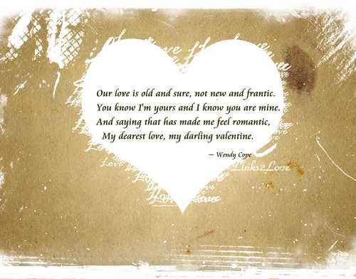 Another Valentine Wendy Cope Love Poem