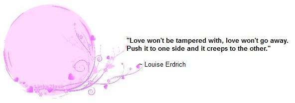Love won't be tampered with