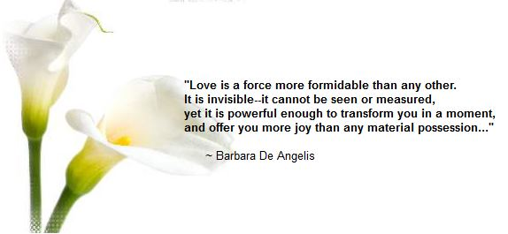 The power of love - quote