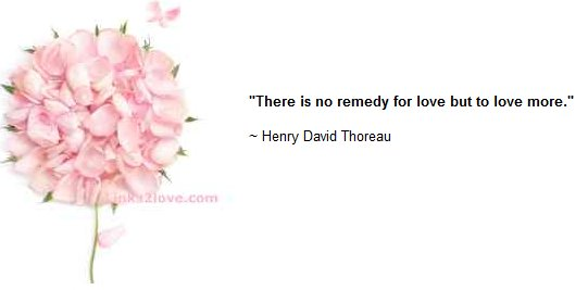 No remedy for love but to love more... love quote