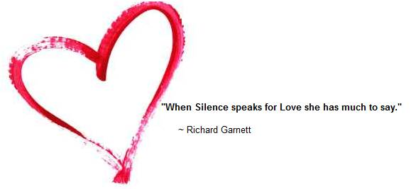 when silence speaks for love, she has much to say