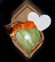 Light green carved heart