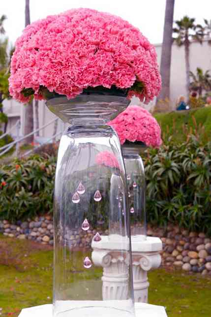 Pink and black wedding spring and summer bouquets pink flowers large outdoor arrangement pink outdoor seaside wedding flower and decor mightylinksfo Gallery