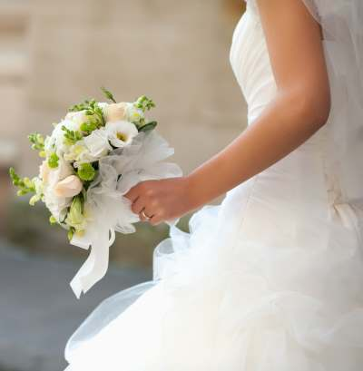 Brides White Bouquet Wedding Photos White Wedding Flowers
