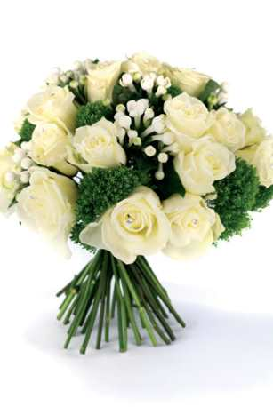 lilies wedding bouquet. Wedding bouquet in white roses