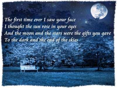First Time Ever I Saw Your Face Lyrics Roberta Flack